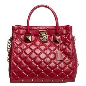 MICHAEL KORS Large Hamilton Studded Quilted Tote